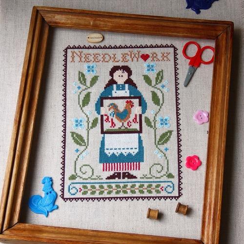 Фото. Дамочка-рукодельница с петушком .  Автор работы - Antipochka