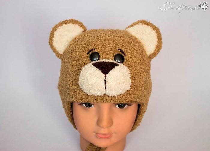 Фото. Мишутка, детская шапочка на осень.  Автор работы - петруния