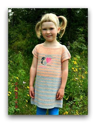 Фото. Платье для внучки изо льна от СЕАМ.  Автор работы - МамуляГаля