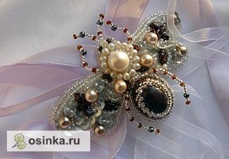 """Фото. Брошь- кулон """"Бабочка- жемчужница"""". Автор - Валерия Фоминых ."""