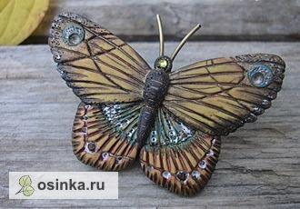 Фото. А эта милая бабочка выполнена из термопластики. Автор - LubovElov .