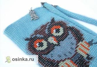 """Фото. Очешник """"Сова"""" - ювелирная работа из чешского бисера. Автор - Zolotaya-ribka ."""