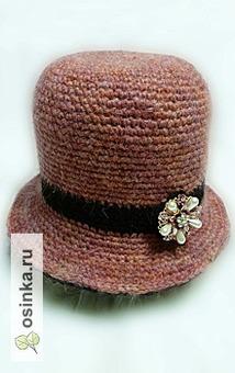 """Фото. Шляпа двухсторонняя """"Розовый жемчуг"""" - розовая с одно стороны и черная - с другой. Автор - polina_sed ."""
