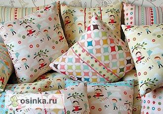 Фото. Подушки для детских кроваток.   Автор - Naat .