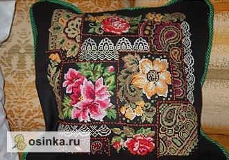 Фото. Подушки с вышивкой крестом - это классика жанра. Автор - zolotie-rychki .