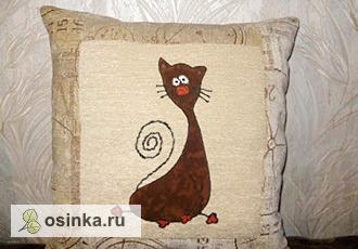 """Фото. Еще одна симпатичная """"кошачья"""" подушка. Автор - cmailik ."""