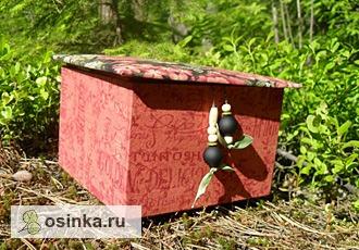 """Фото. """"Шкатулка Лесной Феи"""" - картонаж, отделка тканью. Автор - ksenialarina ."""