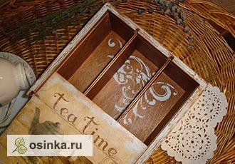 Фото. Шкатулка для чайных пакетиков - им ведь тоже нужен красивый дом - декупаж, роспись акриловыми красками. Автор - ЙожЫк .