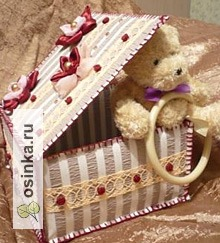 Фото. Милая шкатулочка для мелочей из ткани и кружева. Автор - ManushaA .