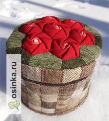 """Фото. Шкатулка текстильная для рукоделия """"Розы"""". Автор - Тера ."""