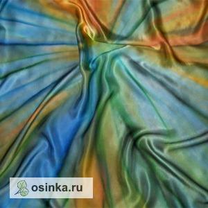 """Фото. Платок """"Тамбов"""", натуральный атлас, 110-110.  Автор - Fantaserka ."""