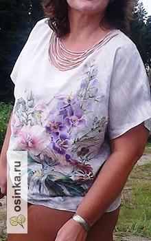 Фото. Роспись по натуральному шелку и блузка для дамы. Автор - Verenica .