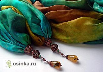 """Фото. Шелковый палантин с подвесками """"Лето всегда со мной"""". Батик. Автор - Ольха1 ."""