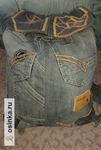 Фото. Крекс, пекс, фекс! И старые мужские джинсы превращаются в мужской же рюкзак. Волшебница - tasika .