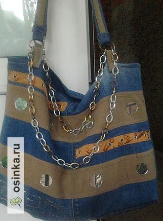 Фото. Джинсы и стиль бохо - близнецы-братья! На фото - стильная и такая крутая боховская сумка от Miroslava1776 .