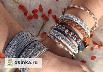 Фото. Кожаные браслеты в скандинавском стиле - и по отдельности, и целым сетами. Выбирайте! Автор - Scandicraft .