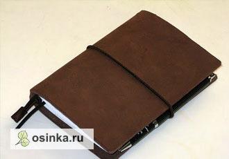 Фото. Брутальный блокнот с обложкой из цельного куска плотной кожи - подарок для настоящих мужчин. Автор - Atkins .