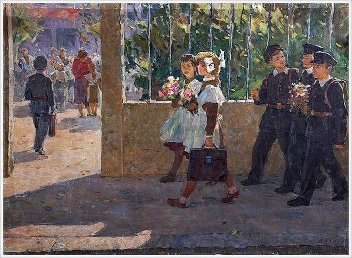 """Фото. Васецкий Г.С. """"Первое сентября"""", 1960 г."""
