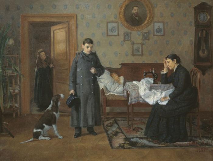"""Фото. Жуков Д. """"Провалился"""", 1885 г."""