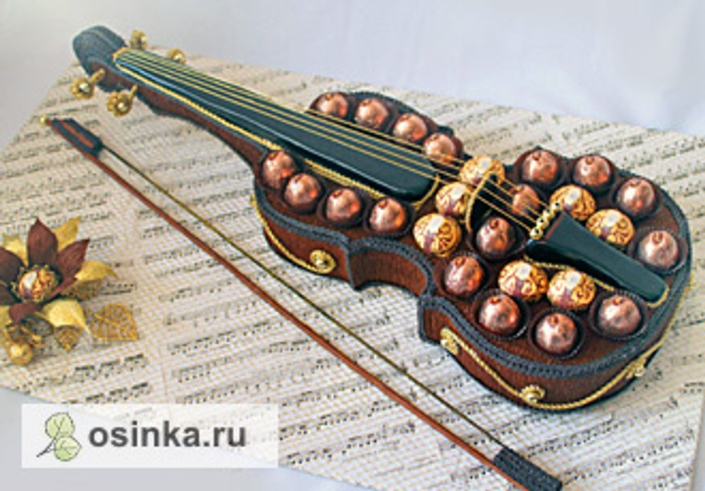 """Фото. """"Скрипка"""", скульптурная композиция, одна из первых работ на заказ"""