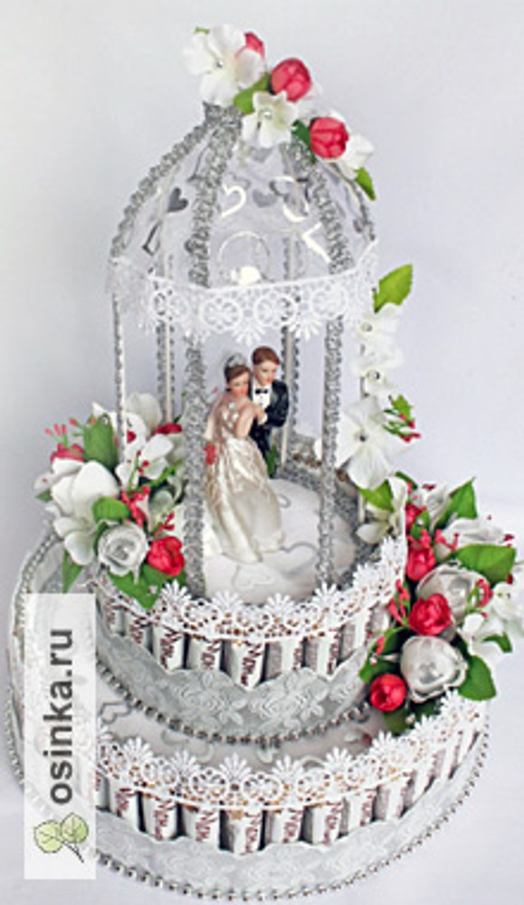 Фото. Торт в подарок на серебряную свадьбу