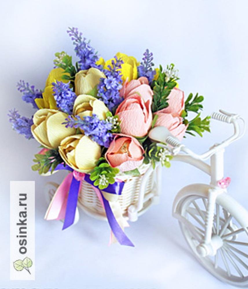 Фото. Композиция с тюльпанами
