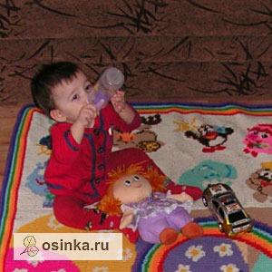 """Фото. Наигрался - можно и подкрепиться! Развивающий детский коврик """"Смешарики"""". Автор - Goslis ."""