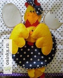 Фото. Курочка с цыпленком. Развивающие аппликации ручной работы от Natali1972 .