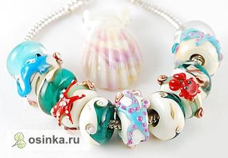 Фото. Бусинки-пандоринки красивы сами по себе и просто великолепны в виде этого нежного гарнитура. Автор - eletskaya .