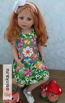 Фото. Платьице для девочки из разноцветных мотивов. Автор - zabavyhka. .