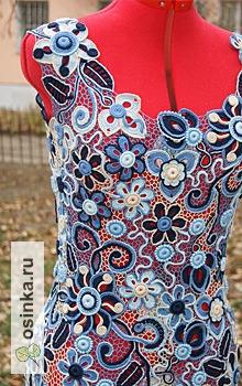 """Фото. Платье в синих тонах """"Аквамарин"""". Мило, не правда ли? Автор - Bibulik ."""