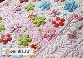 Фото. Очень лёгкое и воздушное одеялко на лето для девочки (100% хлопок,  художественная стёжка). Автор - vostochnye skazki .