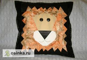"Фото. Декоративная подушка ""Царская"", ведь лев - Царь зверей! Автор - Chrisa ."