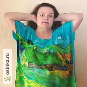 """Фото. Оригинальная туника с рисунком по картине Ван Гога """"Крестьянские хижине в Овере"""". Автор - NNad ."""
