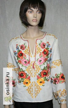 Фото. Вышитая блуза-туника. Автор - NP-style .