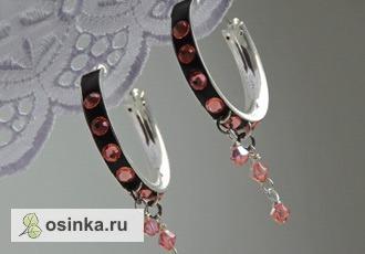 Фото. Серьги с цветными кристаллами Сваровски. Автор - Ronalda .