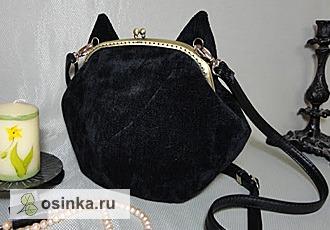 """Фото. Очаровательная сумочка с муаром """"Кошка"""". Автор - Тера ."""