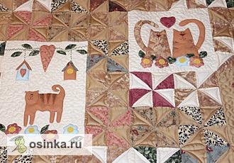 Фото. Уютное лоскутное кошачье одеяло от Valentinka 64 .