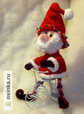 Фото. Ну зачем современному Санта Клаусу олень? Велосипед- куда удобней и симпатичнее. прекрасный подарок или новогодний сувенир! Автор  - sapara77 .