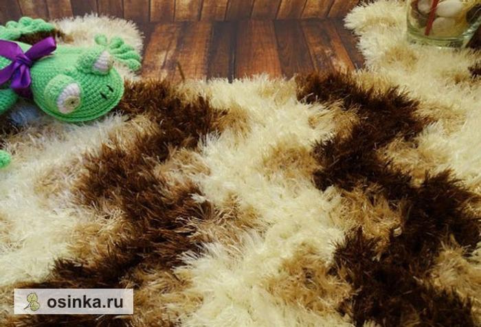 """Фото. Вязаный коврик из пряжи """"травка"""" - мягкий и уютный. Автор - Bregoli ."""