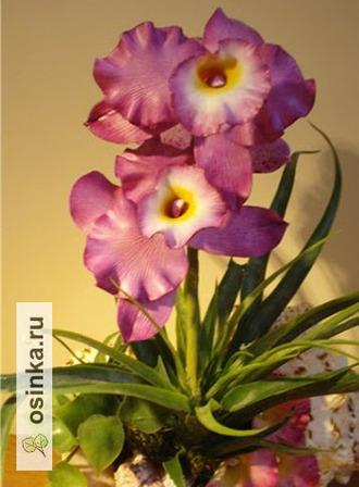 Фото. В этой необычной  технике  и трогательные нежные орхидеи...