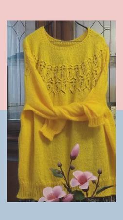 "Фото. Пуловер ""Аделаида"".  Автор работы - Galas"
