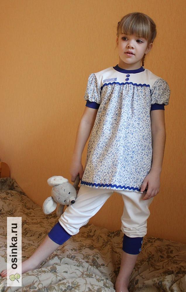 """Фото. Пижама """"Гжель"""" - 2 место на конкурсе """"В объятиях домашнего уюта"""", интерлок, американский хлопок."""