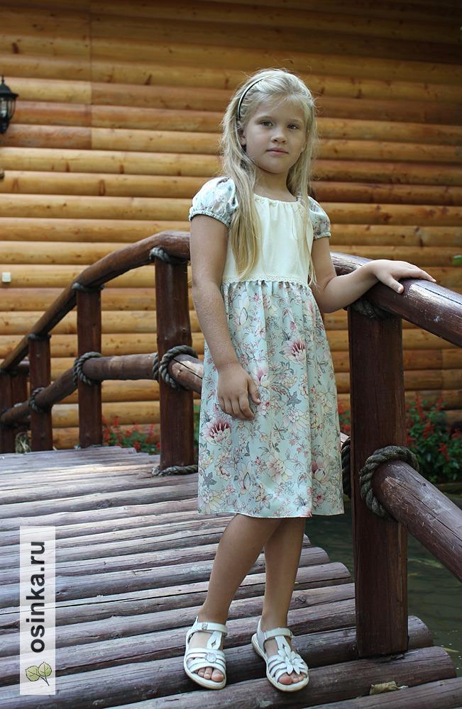"""Фото. """"Первое шёлковое платье"""" 5-летней дочки, натуральный шёлк, бамбуковый кулир с лайкрой."""