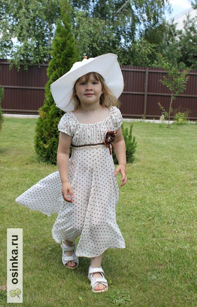 """Фото. Платье по мотивам из к/ф """"Красотка"""", вискозный батист, канзаши из лент."""