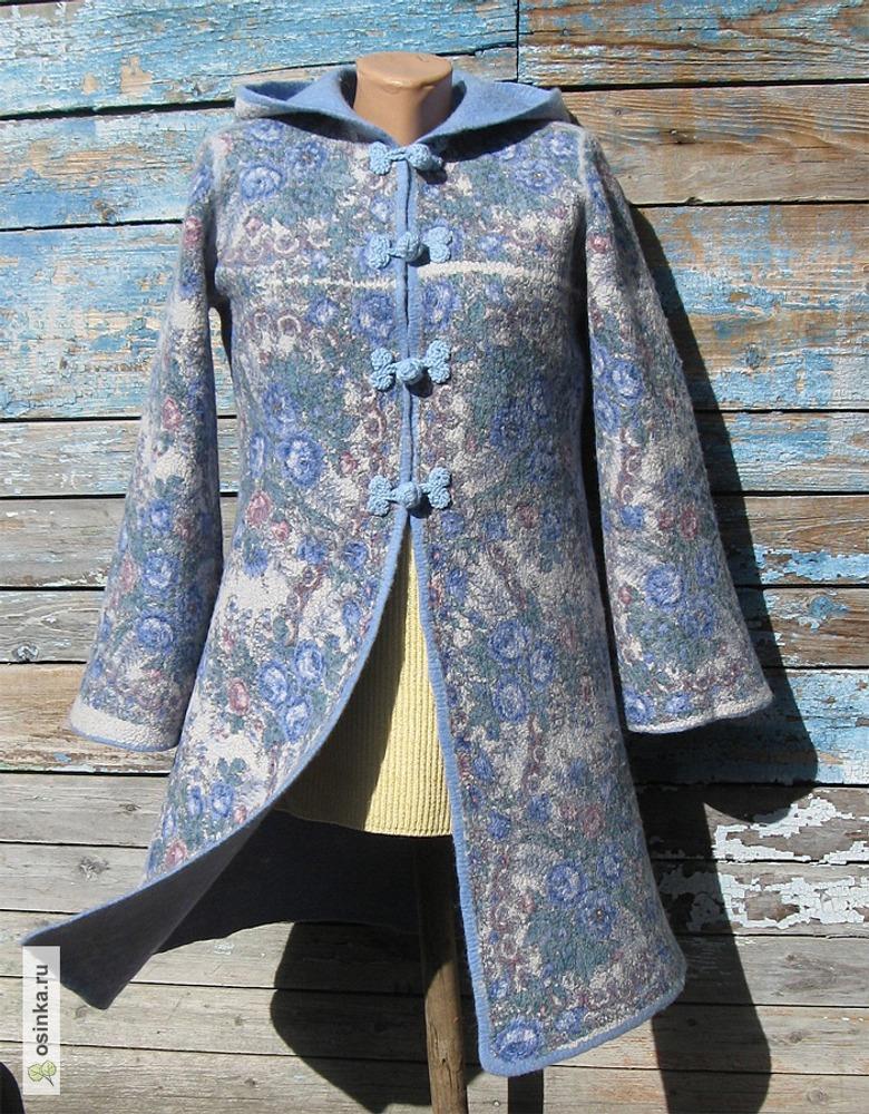 """Фото. Пальто """"Снегурочка, весенняя сказка"""" (нуновойлок на основе платка """"Весеннее утро"""")."""