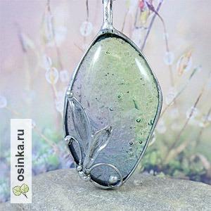 """Фото. Кулон с авторским чешским стеклом """"Предчувствие весны"""". Автор - AnnF ."""