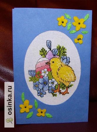 Фото. Пасхальные яйца, цыплята, цветы - самые популярные детали пасхальных открыток. Автор - coco1964 .