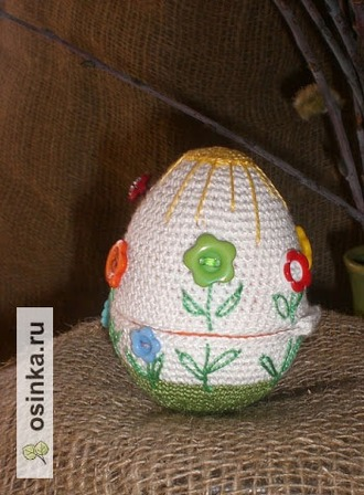 Фото. Вязаное пасхальное яйцо-шкатулочка от Мари3103 .