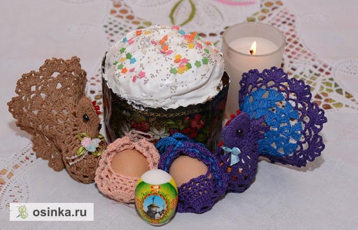 Фото. Вязалочки пасхальные от Svetik77 - курочки и подставки для яиц.
